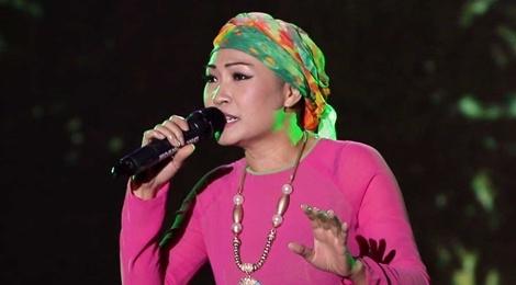 Phuong Thanh doi khan che dau troc tren san khau hinh anh