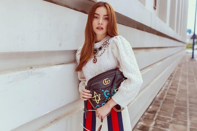 Ho Ngoc Ha dien do Gucci anh 4