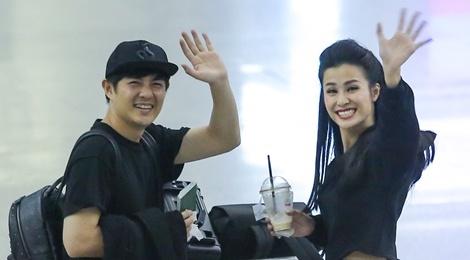 Dong Nhi va ban trai gian di tai san bay khi sang du MTV EMA hinh anh