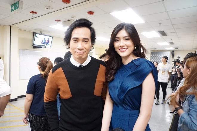 Huynh Tien xinh dep ben canh dan sao TVB anh 1