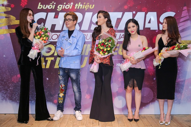 Ho Ngoc Ha deo kinh che met moi den du hop bao Bui Anh Tuan hinh anh 1