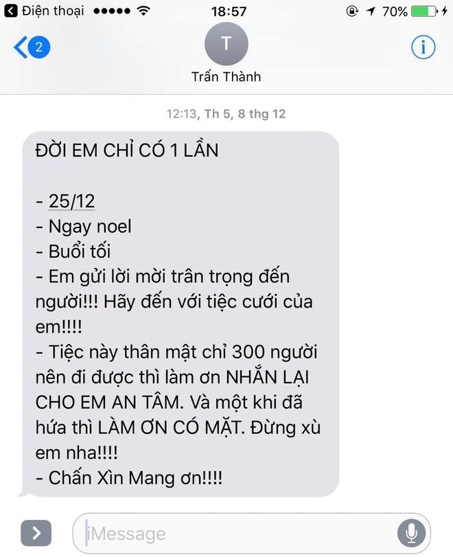 Tran Thanh chi moi 300 khach cho tiec cuoi voi Hari Won anh 1