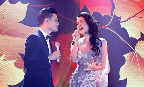 Thu Phuong va Quang Dung nong nan tren san khau hinh anh