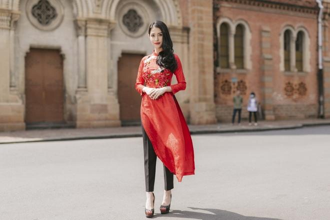 Chi em Mai Thu Huyen, Mai Ho dien ao dai xuan xuong pho hinh anh 8