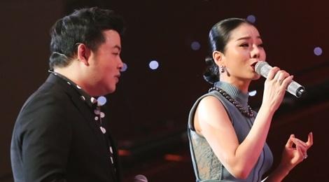Le Quyen, Quang Le, Ngoc Son hat 'Sau tim thiep hong' cung thi sinh hinh anh