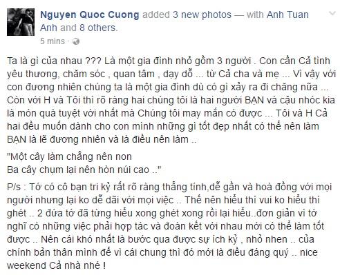 Cuong Do La viet cho Ho Ngoc Ha: 'Ta la gi cua nhau?' hinh anh 1