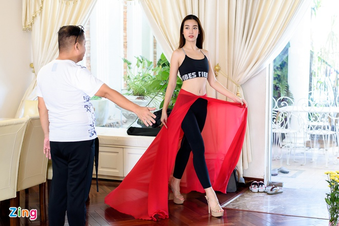 Do My Linh tap catwalk cho Miss World anh 4