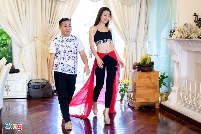 Do My Linh tap catwalk cho Miss World anh 6