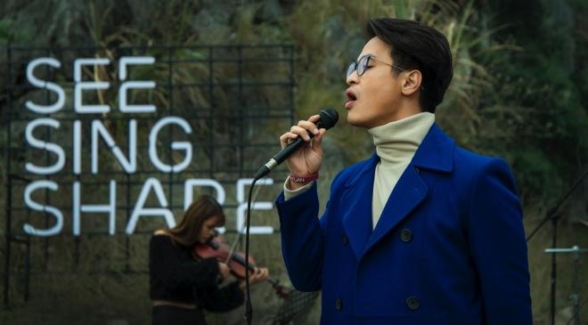 Ha Anh Tuan mo man See Sing Share mua 3 tai Ninh Binh hinh anh
