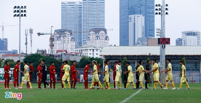 U19 Viet Nam thua trang 5 ban truoc doi tre Ha Noi hinh anh 1