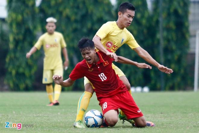 U19 Viet Nam thua trang 5 ban truoc doi tre Ha Noi hinh anh 3