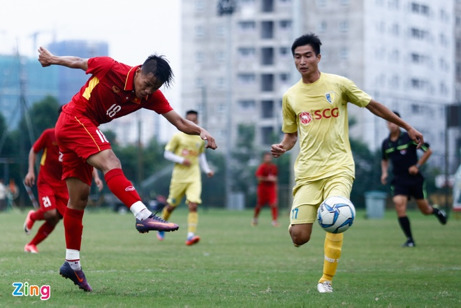 U19 Viet Nam thua trang 5 ban truoc doi tre Ha Noi hinh anh 8