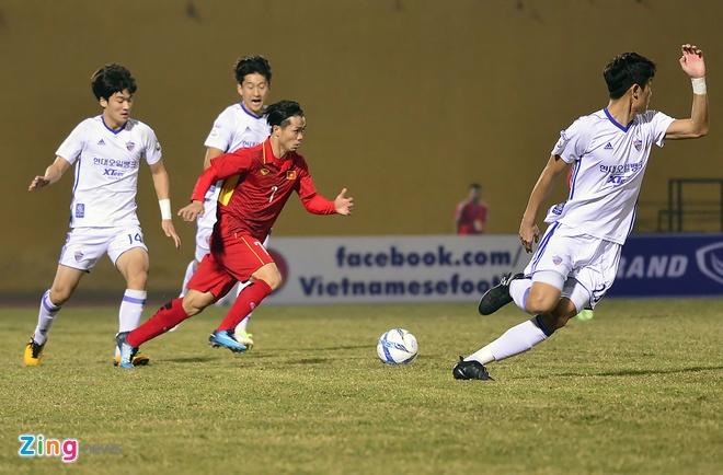 Cong Phuong tit ngoi, U23 Viet Nam thua sat nut CLB Han Quoc hinh anh 1