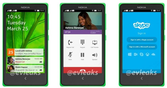 Nokia A110 chay Android 4.4 gia re sap ra mat hinh anh