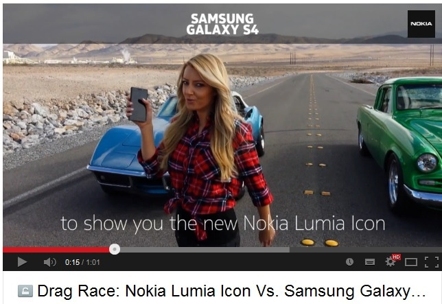 Nokia tung quang cao Lumia Icon dim hang Galaxy S4 hinh anh