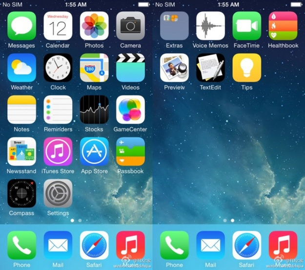 Anh giao dien iOS 8 ro ri hinh anh 1