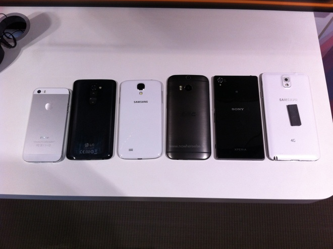 HTC One 2 do dang cung iPhone 5S, Galaxy S4 va LG G2 hinh anh 2