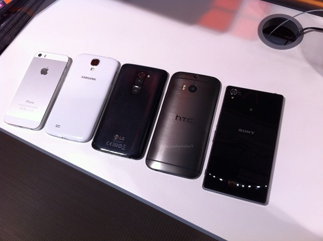 HTC One 2 do dang cung iPhone 5S, Galaxy S4 va LG G2 hinh anh