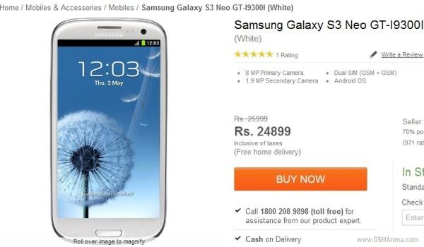 Samsung cong bo Galaxy S3 Neo chay 2 SIM tai An Do hinh anh
