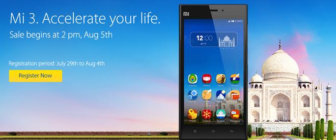 Xiaomi Mi3 chay hang tai An Do chi trong vong 5 giay hinh anh 2