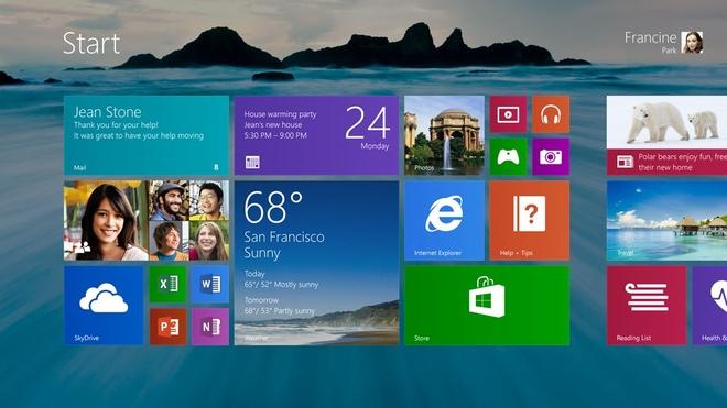 Nhin lai 30 nam he dieu hanh Windows hinh anh 15 Windows và Windows Phone 8.1 (2014): Với Windows 8.1, thanh Start Bar đã quay lại ở bên trái thanh taskbar cùng với đó là trình duyệt IE được nâng lên phiên bản IE 11 với khả năng bảo mật và tốc độ cao hơn. Trên Windows Phone 8.1 là những thay đổi đắt giá,  phải kể đến là trợ lý ảo Cortana, trung tâm thông báo và cửa hàng trực tuyến.