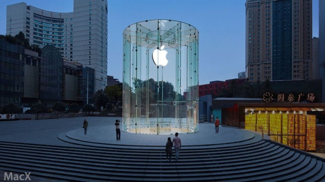 Apple mo them cua hang tai Trung Quoc hinh anh