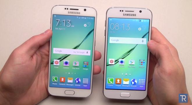 So sanh Galaxy S6 that va nhai hinh anh