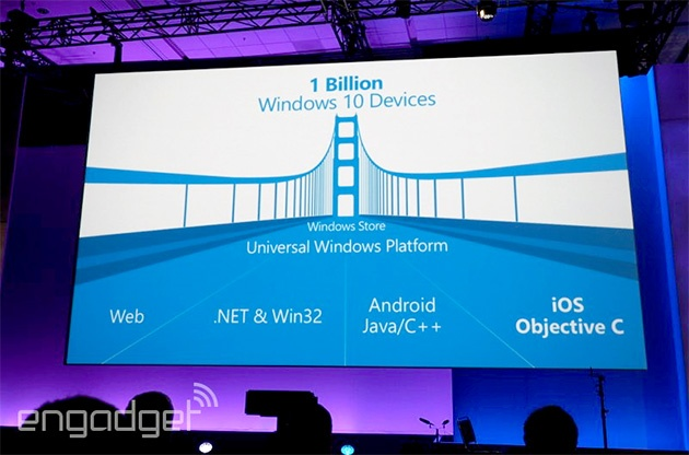 Microsoft dat muc tieu 1 ty thiet bi chay Windows 10 hinh anh