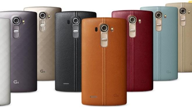 10 smartphone cao cap pin khung hinh anh 10 LG G4: Đây là thiết bị cao cấp mới vừa ra mắt. Mặt lưng của nó sử dụng chất liệu da cao cấp. Máy dùng màn hình 5,5 inch với độ phân giải QHD (2.560 x 1.440 pixel), pin 3.000 mAh có thể thao rời. Thử nghiệm benchmark pin cho thấy, thiết bị có thể sử dụng xấp xỉ 6h cùng thời gian sạc 2h7 phút.