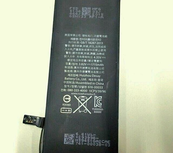 iPhone la co pin 1.715 mAh hinh anh 1