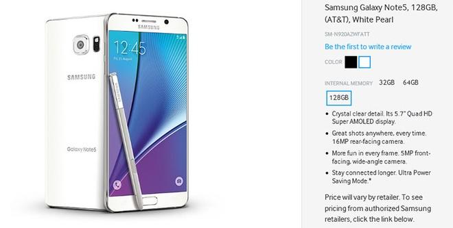 Galaxy Note 5 va Galaxy S6 Edge+ khong co ban 128 GB hinh anh 1 Thông tin về Galaxy Note 5 và Galaxy S6 Edge+ bản 128GB làm nhiều tín đồ Samsung mừng hụt.