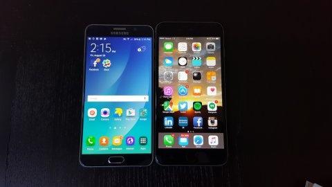 So sanh iPhone 6 Plus va Galaxy Note 5 sau mot tuan su dung hinh anh
