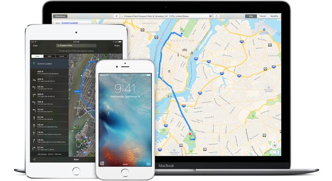 Nhung nang cap dang gia tren iOS 9 hinh anh 4 Maps chỉ dẫn thông minh và nhiều tính năng đi kèm. Ảnh: Apple.