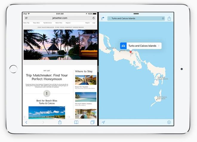 Nhung nang cap dang gia tren iOS 9 hinh anh 8 Khả năng chia đôi màn hình. Ảnh: Apple.