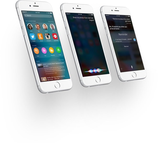 Nhung nang cap dang gia tren iOS 9 hinh anh 9 Siri trở nên thông minh hơn. Ảnh: Apple.