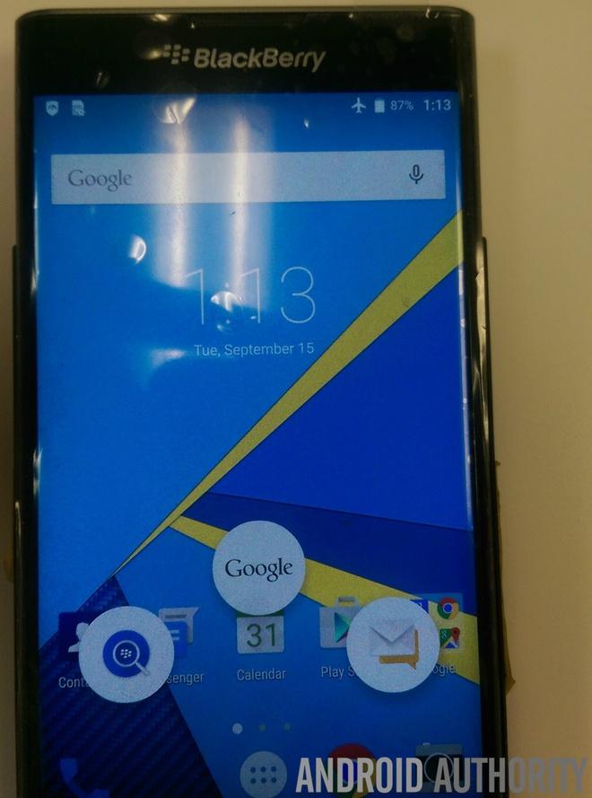 BlackBerry Venice ro ri anh thuc te hinh anh 8  Giao diện màn hình chính là sự kết hợp giữa các tính năng của BlackBerry và Google.