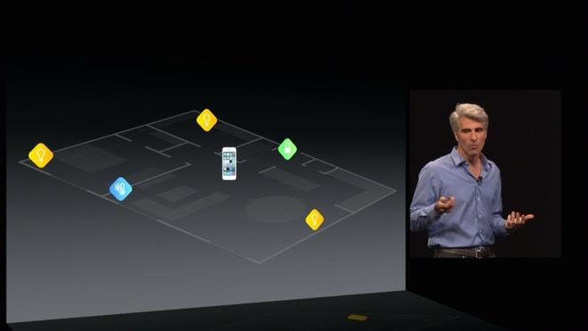 Craig Federighi - Phó Chủ tịch cấp cao phụ trách công nghệ phần mềm của Apple công bố HomeKit.