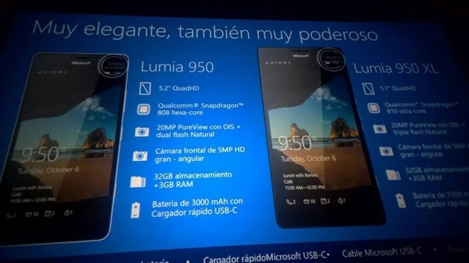Lumia 950, 950 XL va Lumia 550 lo day du thong so hinh anh