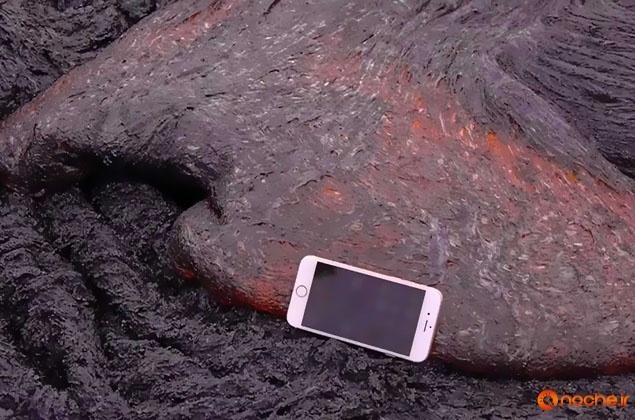 iPhone 6S bung chay khi dat vao dung nham nui lua hinh anh