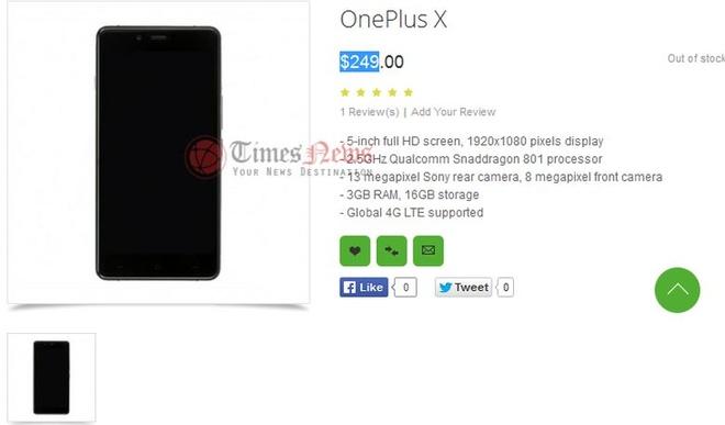 OnePlus Mini dung vi xu ly Snapdragon 801, gia 249 USD hinh anh 1
