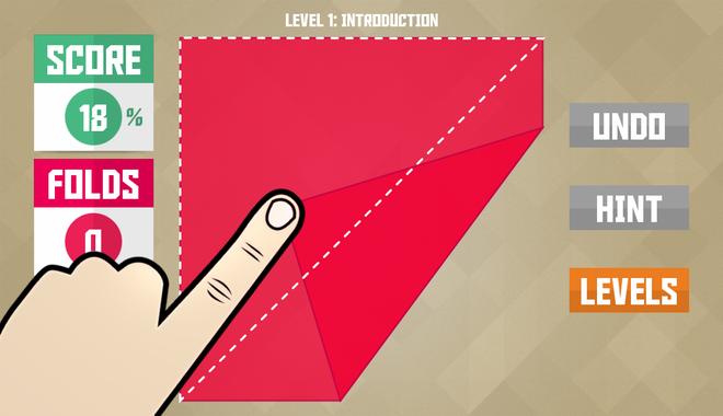 10 tua game khong the bo qua tren iPhone hinh anh 10 Paperama là game giải đố mô phỏng trò chơi gấp giấy nghệ thuật Origami của Nhật Bản. Người chơi sẽ được cho giấy màu và yêu cầu gấp theo hình mô phỏng nhưng bị giới hạn số lần gấp tùy vào màn chơi.