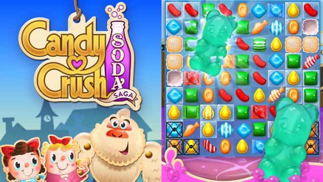 10 tua game khong the bo qua tren iPhone hinh anh 4 Candy Crush Soda, sau thành công của Candy Crush Saga với số lượng người chơi khổng lồ và lợi nhuận lớn. Nhà sản xuất King tiếp tục giới thiệu phiên bản mới Candy Crush Soda. Trong Candy Crush Soda, người chơi cần hoàn thành mỗi cấp độ bằng cách nối ba hoặc hơn các viên kẹo nhiều màu sắc trong một hàng ngang và hàng dọc. Yếu tố mới lạ ở đây là sự kết hợp những ô vuông, cho phép người chơi xóa những viên kẹo bằng cách nối bốn viên kẹo trong một ô vuông.