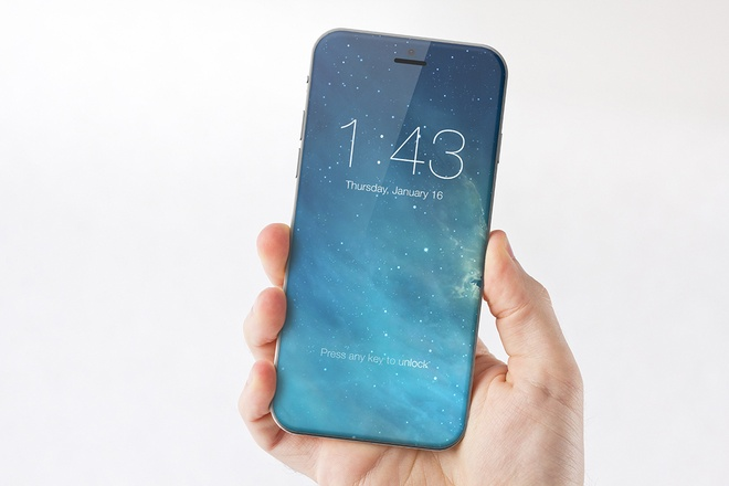 Y tuong iPhone 7 man hinh tran canh, khong co nut home hinh anh