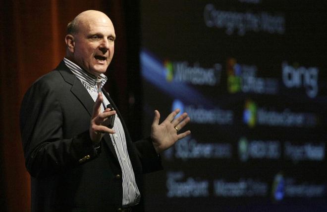 'Dien thoai Windows can kha nang chay ung dung Android' hinh anh 1 Cựu giám đốc điều hành Steve Ballmer.