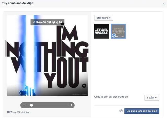 Facebook cho doi avatar theo phim Star Wars hinh anh 2