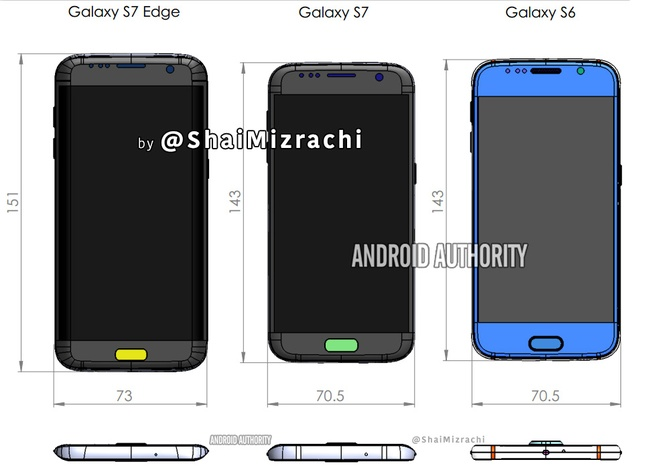 Lo dien thiet ke cua Galaxy S7 va S7 Edge hinh anh