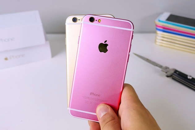Loan tin don ve iPhone 5SE phien ban mau hong hinh anh