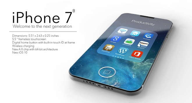 Ban dung iPhone 7 khong vien voi nut home chim doc dao hinh anh