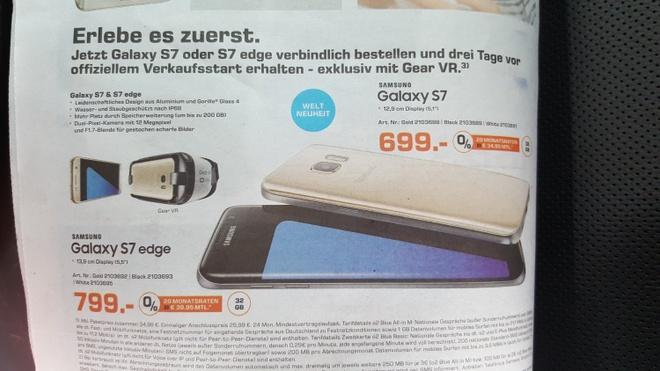 Galaxy S7 va S7 edge ban tu 11/3, da co gia tai chau Au hinh anh 2