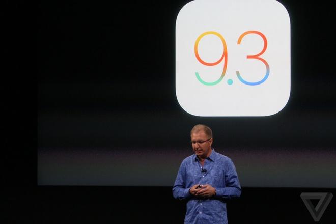 Apple gioi thieu iOS 9.3 hinh anh